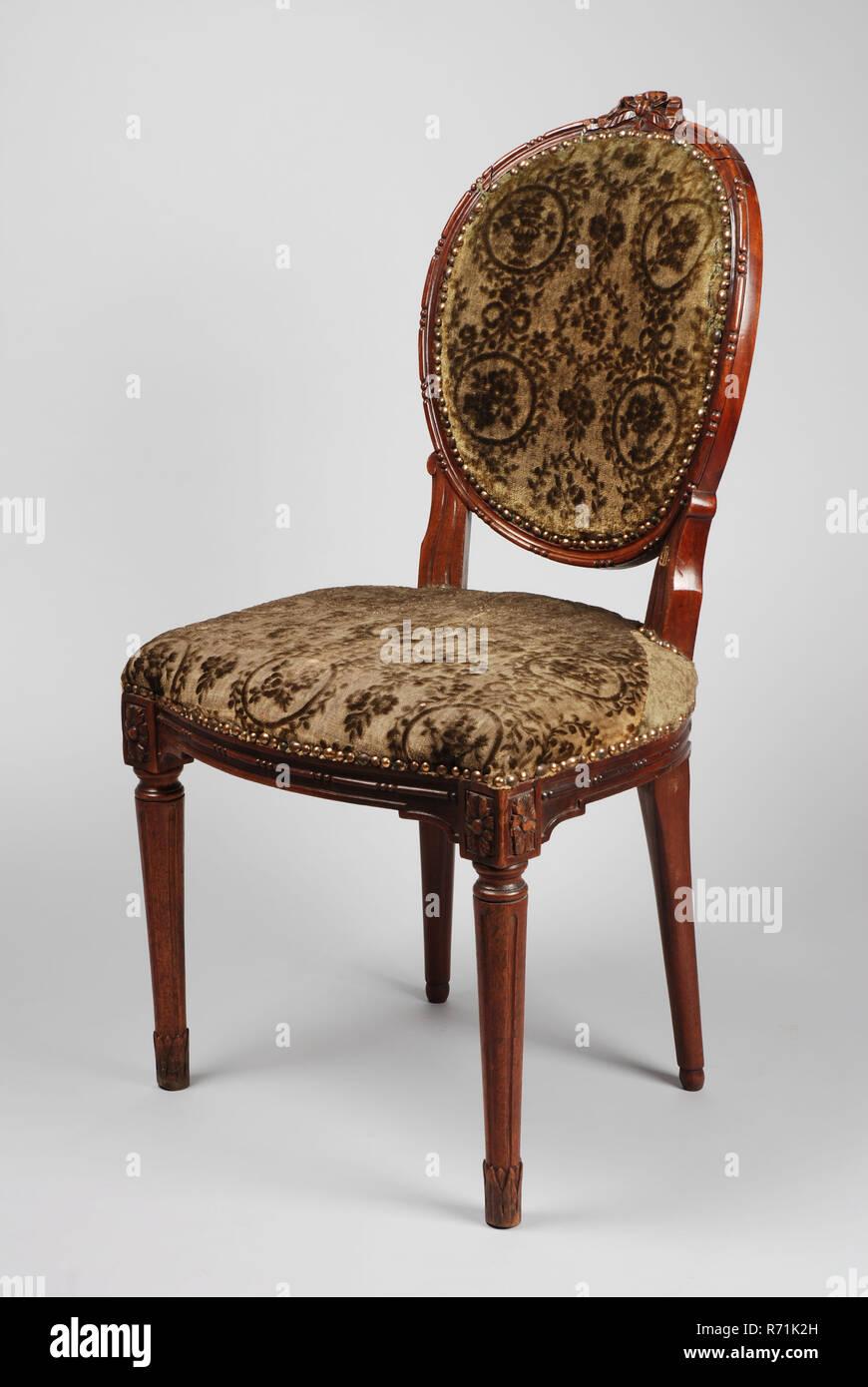 SeizeMedaillon Louis Stuhl Möbel Mahagoni Sitz WYeEHI9D2b