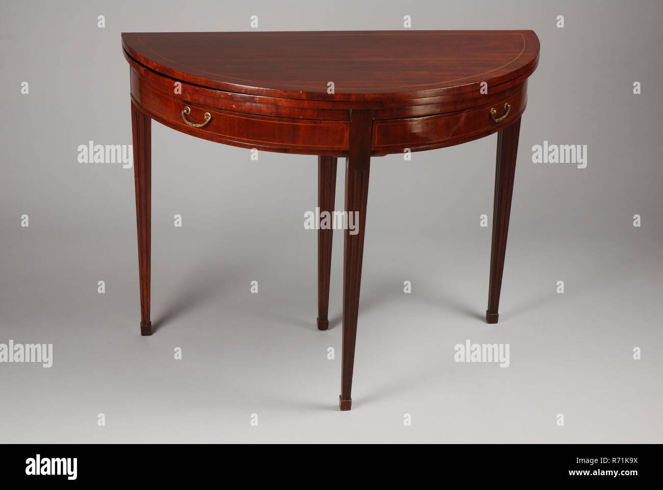 Mahagoni Ausklappbaren Louis Seize Halbmond Tisch, Tisch Klapptisch Tisch  Möbel Innenarchitektur Holz Mahagoni Eiche,