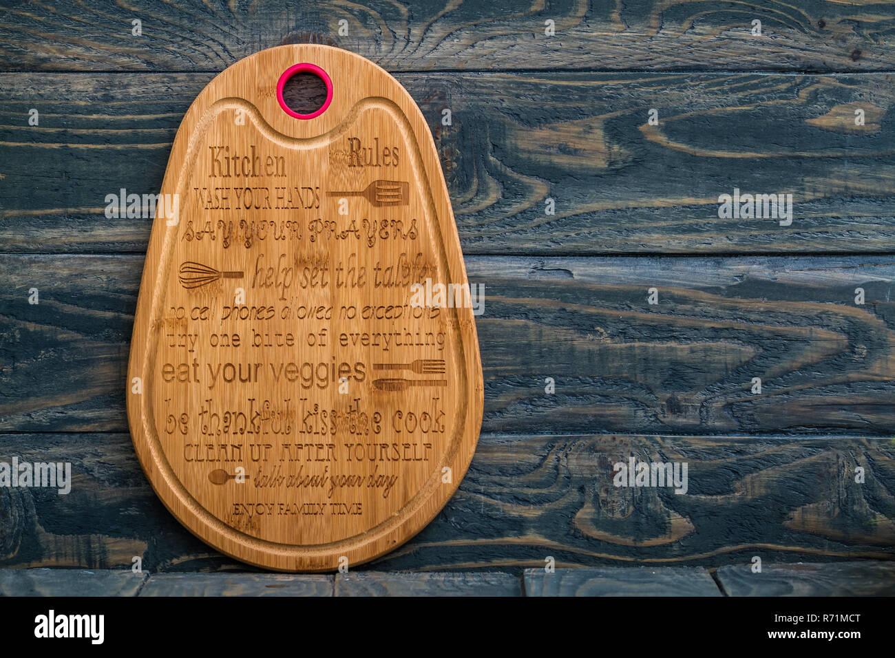 Dekorative Holz Kuche Mit Kuche Regeln Stockfoto Bild 228075368