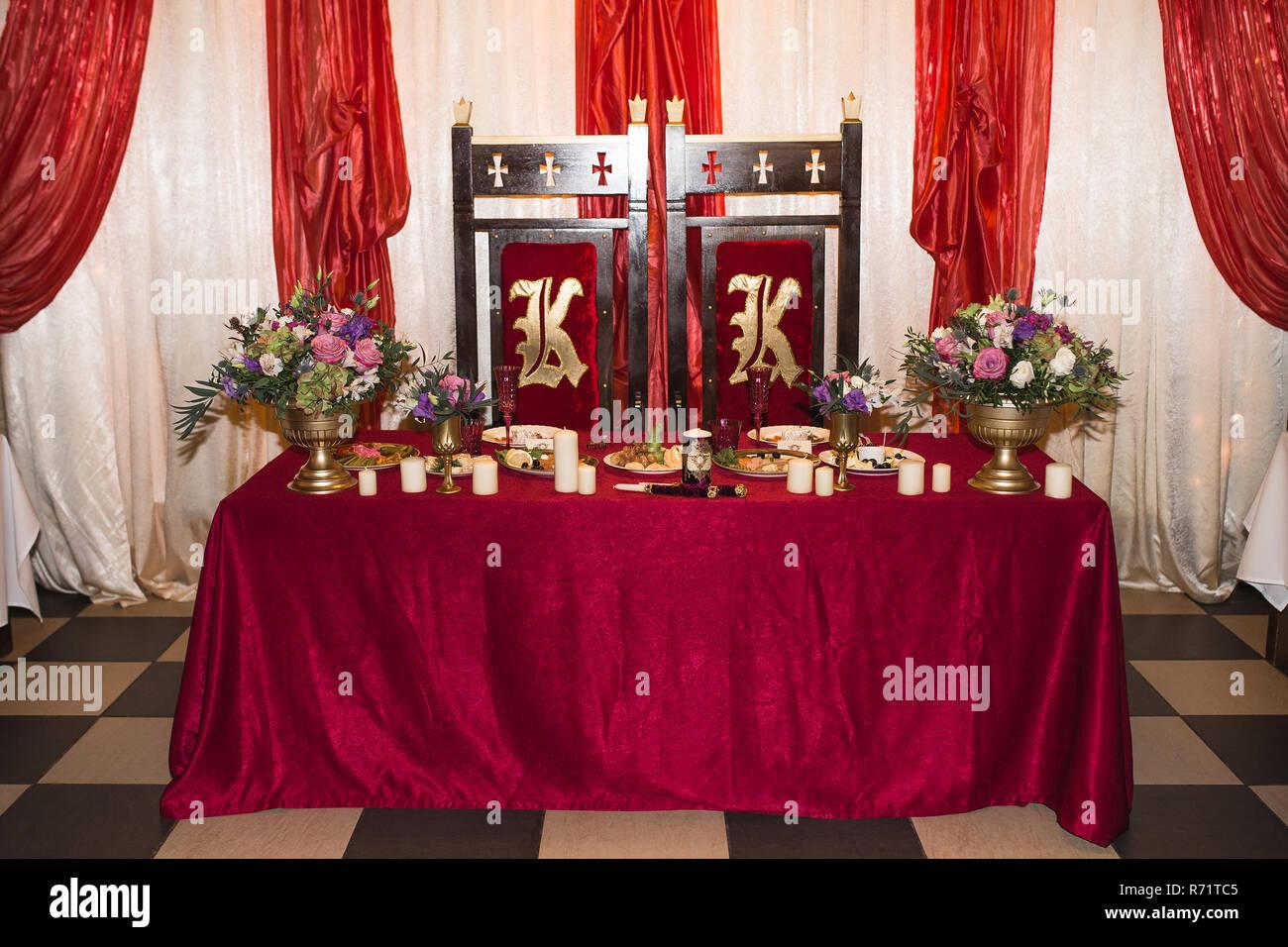 Dekoration Auf Hochzeitsfeier Stockfoto Bild 228078485 Alamy