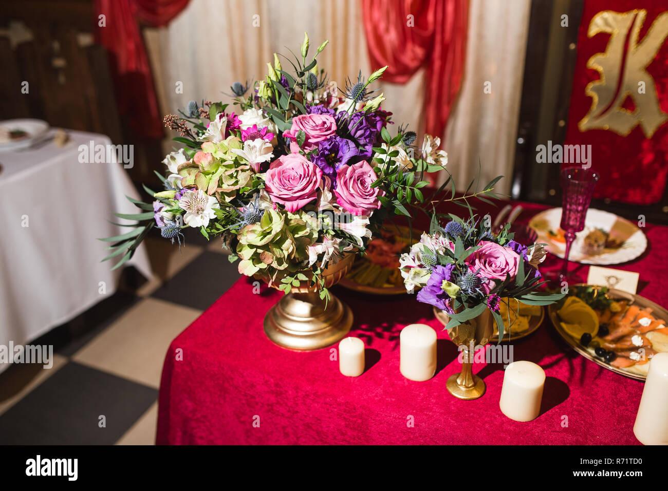 Dekoration Auf Hochzeitsfeier Stockfoto Bild 228078508 Alamy