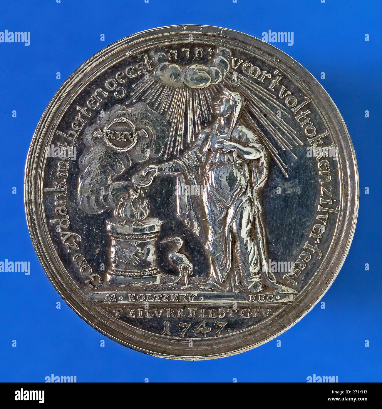 M Holtzhey Medaille Bei Der Goldenen Hochzeit Von Jan Van