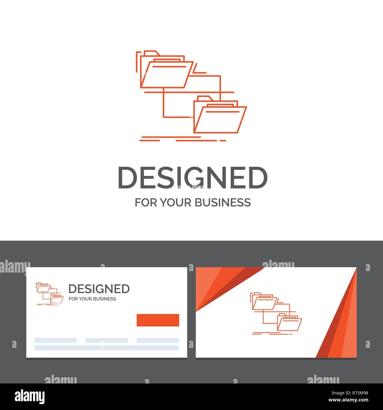 Business Logo Vorlage Für Ordner Datei Management