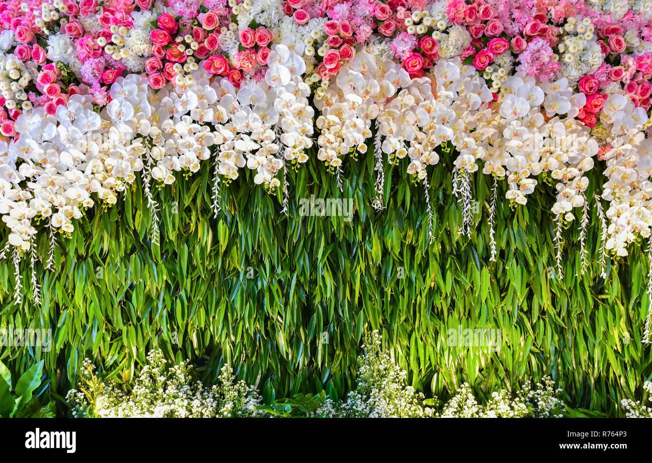 Hintergrund Hochzeit Romantische Blume Dekoration Schone Kulisse
