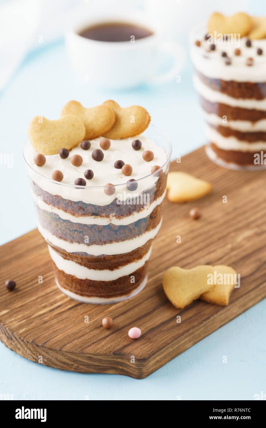 Chocolate Brownie Kleinigkeit Dessert Valentinstag Fruhstuck