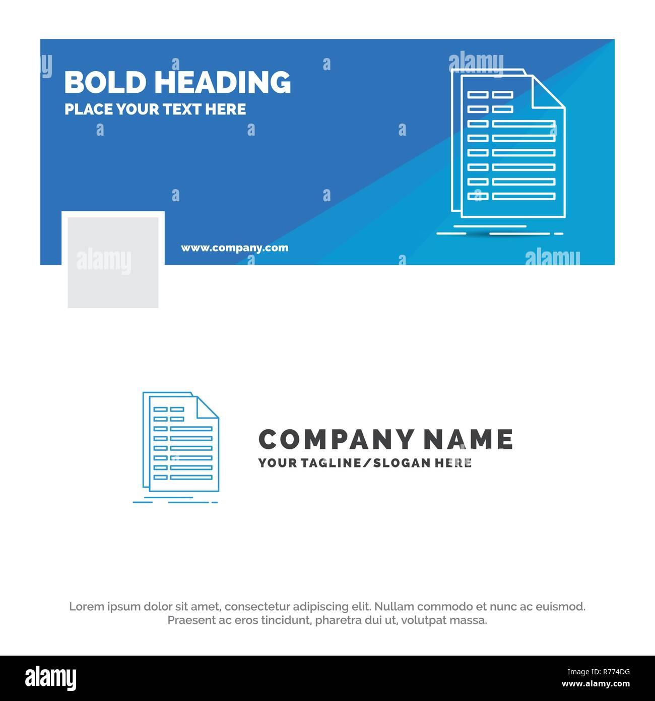 Blue Business Logo Vorlage Für Bill Excel Datei Rechnung Aussage