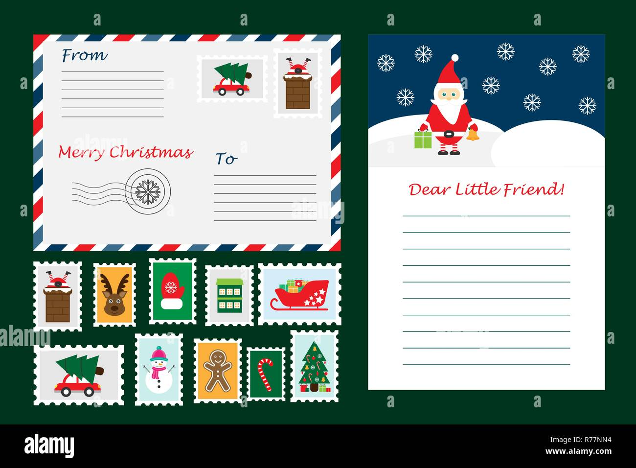 Weihnachten Der Brief Vom Weihnachtsmann Umschläge Und Briefmarken