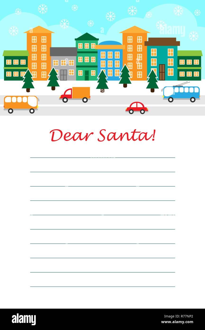 Weihnachten Brief An Santa Claus Für Kinder Vorlage Layot Spaß