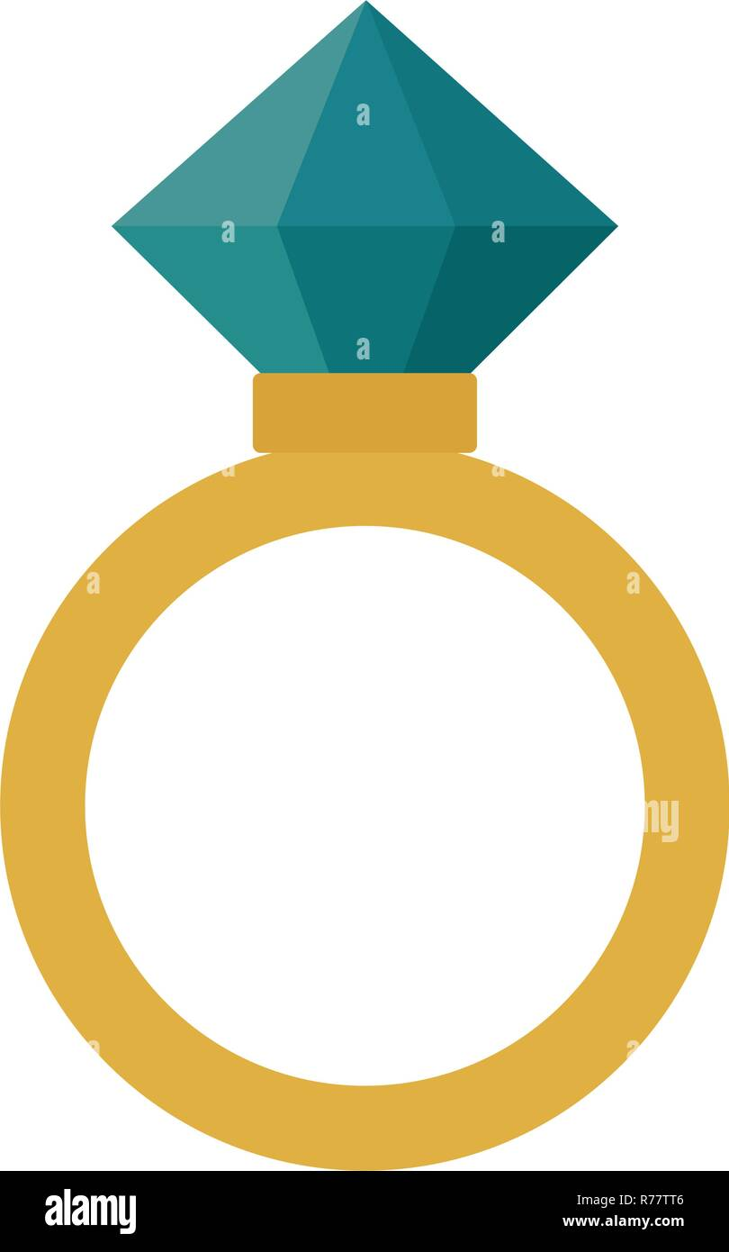 Wedding Ring Isolated Icon Vector Stockfotos Wedding Ring Isolated