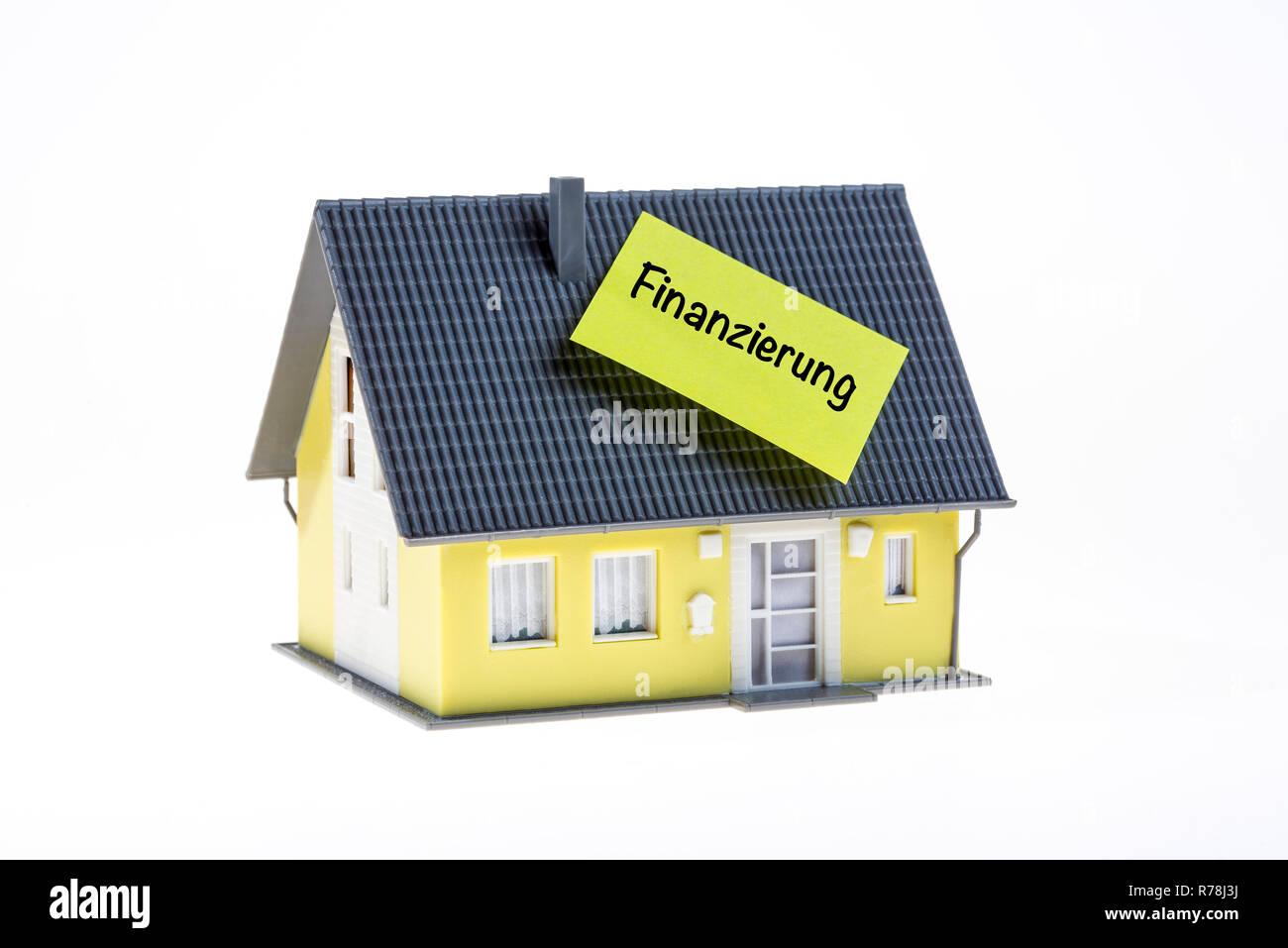 Immobilien, Baufinanzierung, Deutsche Sprache Stockbild