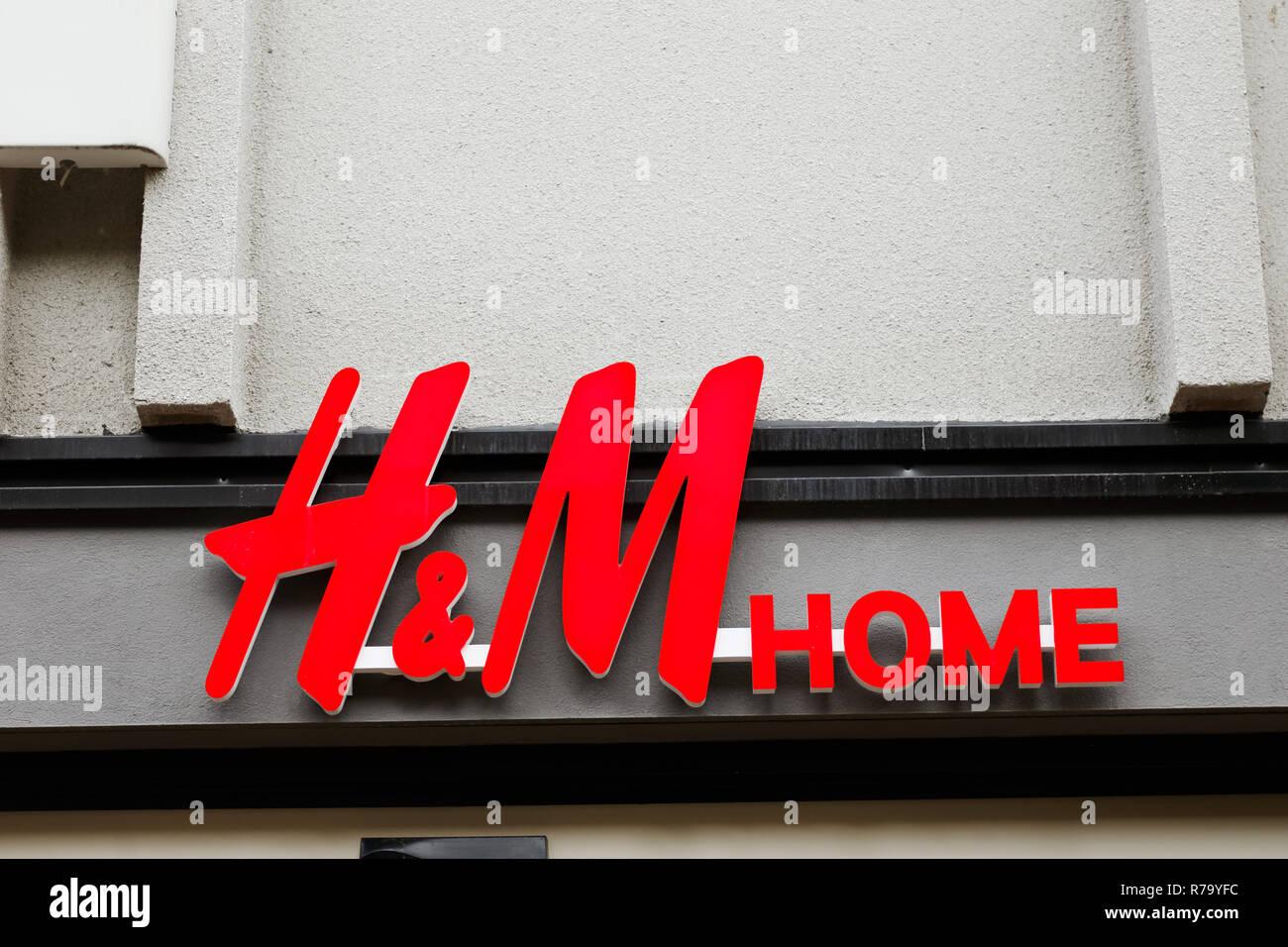 Vaxjo Schweden 26 Juni 2018 Hm Home Store Logo Ansicht Von Der