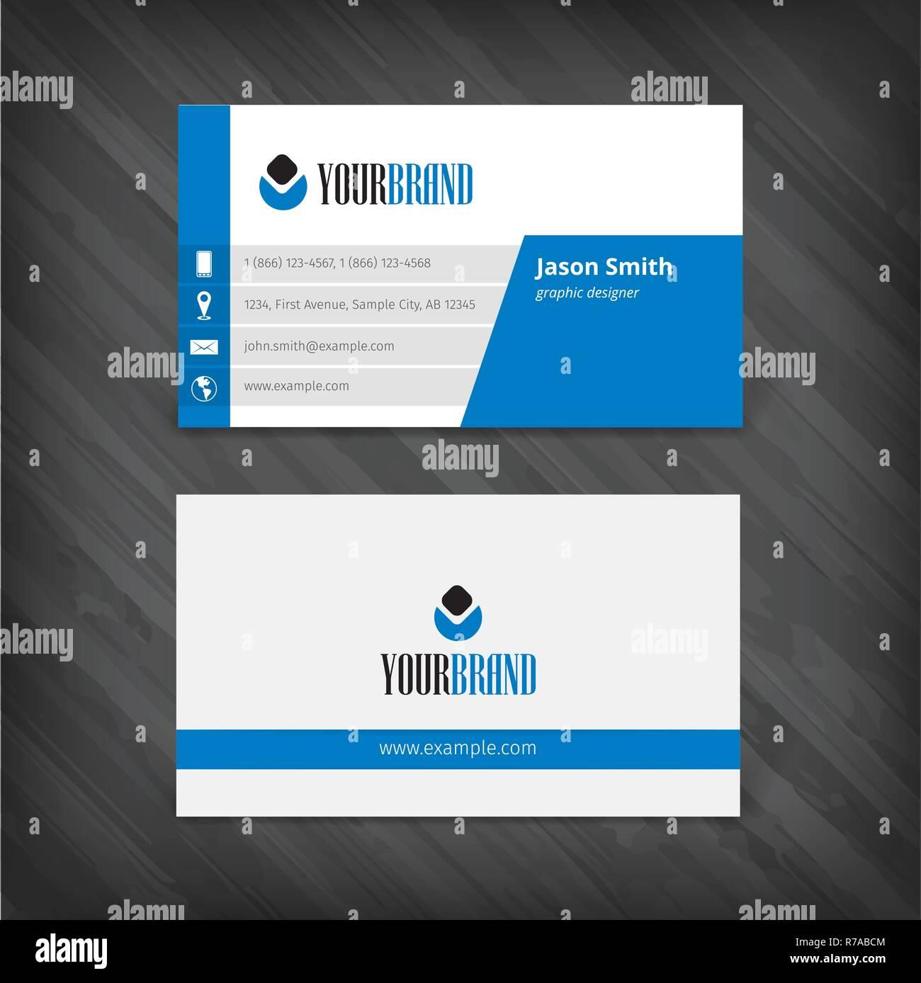 Vektor Abstrakte Kreative Visitenkarten Vektor Abbildung