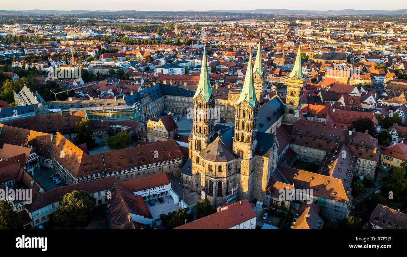 Bamberger Dom oder der Bamberger Dom, Altstadt oder die alte Stadt Bamberg, Deutschland Stockbild
