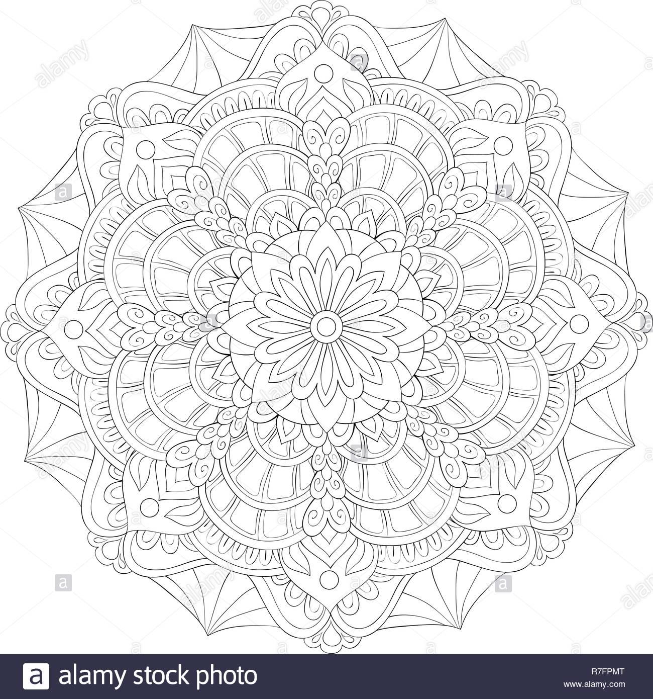Ein Zen Mandala Bild Für Erwachsene Ein Malbuch Seite Für