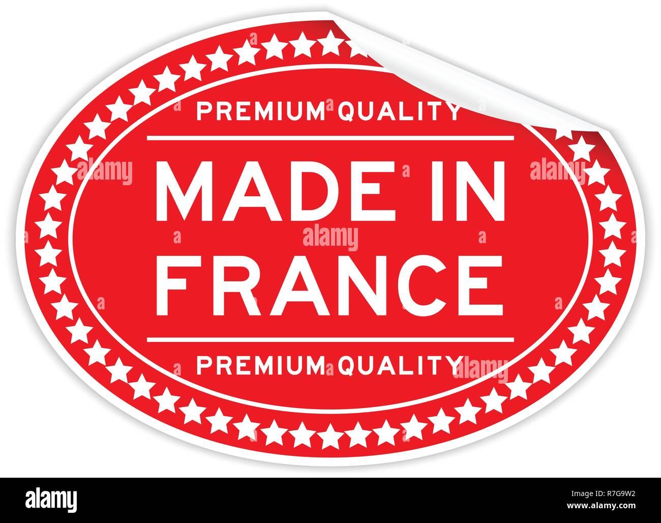 Ziehen Sie Premium Qualität In Frankreich Wort Rot Farbe