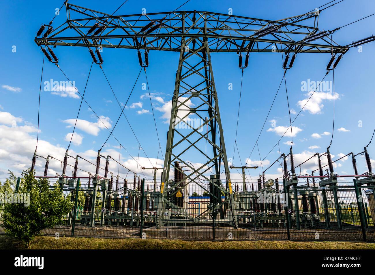 Unterstation alternative Energie Stockbild