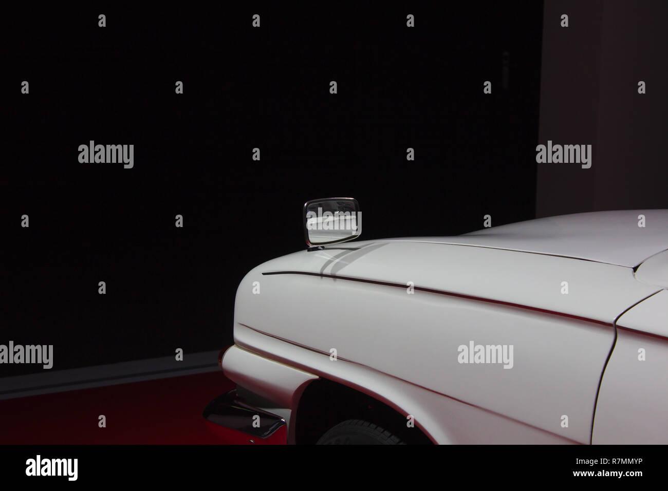 Die aussenspiegel eines Ford Capri Stockbild