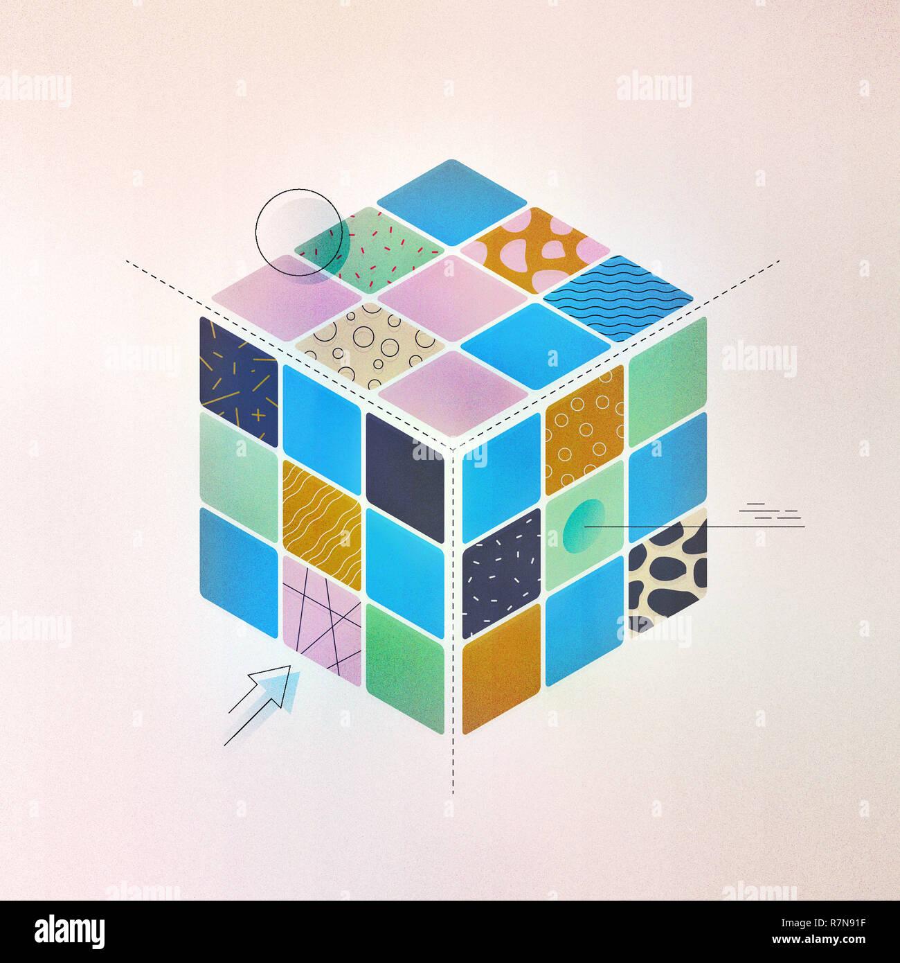 Design genom System, Team Organisationsstruktur, Produktentwicklung, Marke Ecosystems Lösung. Stockfoto