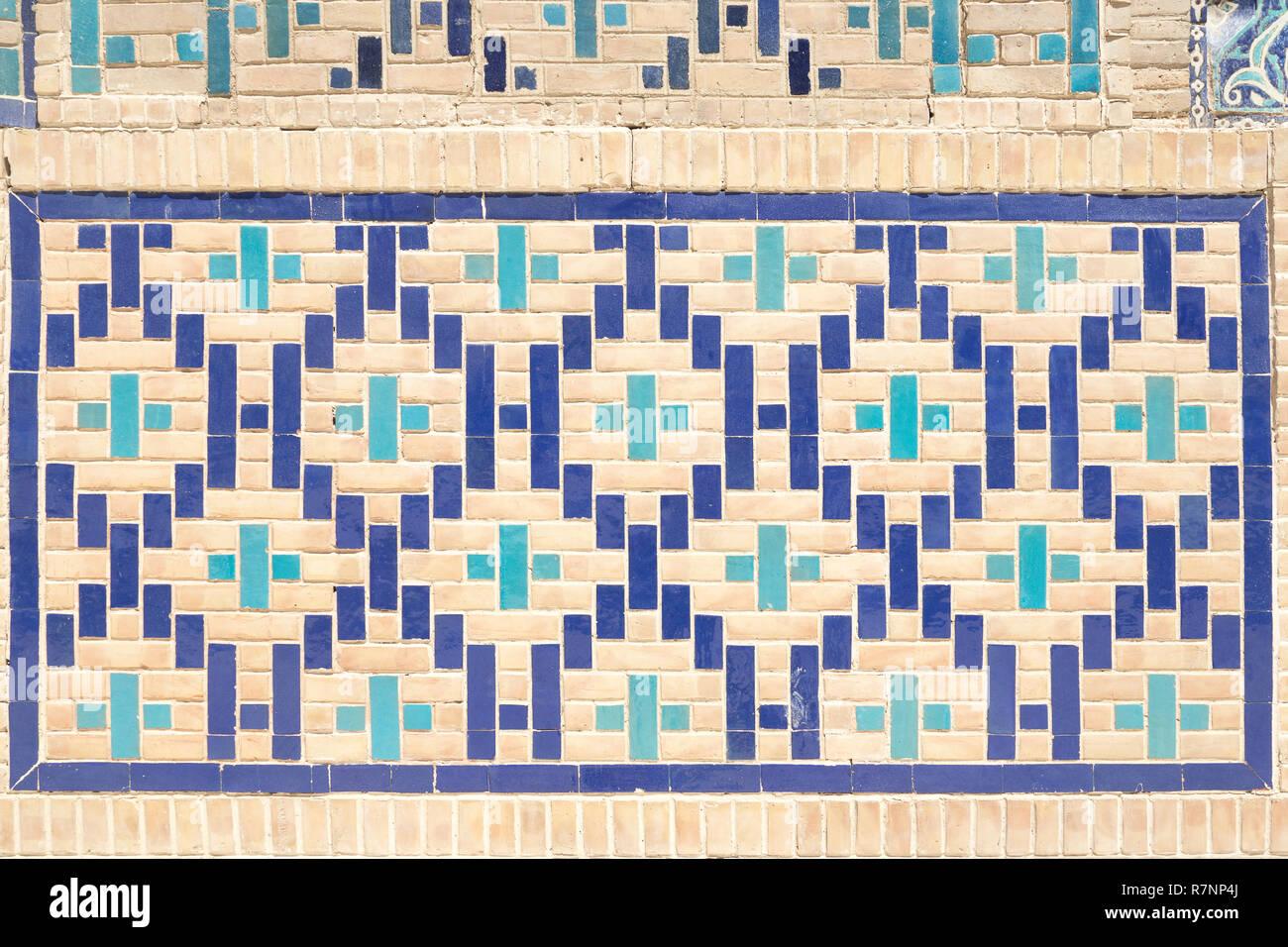 Nahaufnahme Muster Der Ostlichen Arabisch Keramik Mosaik Fliesen
