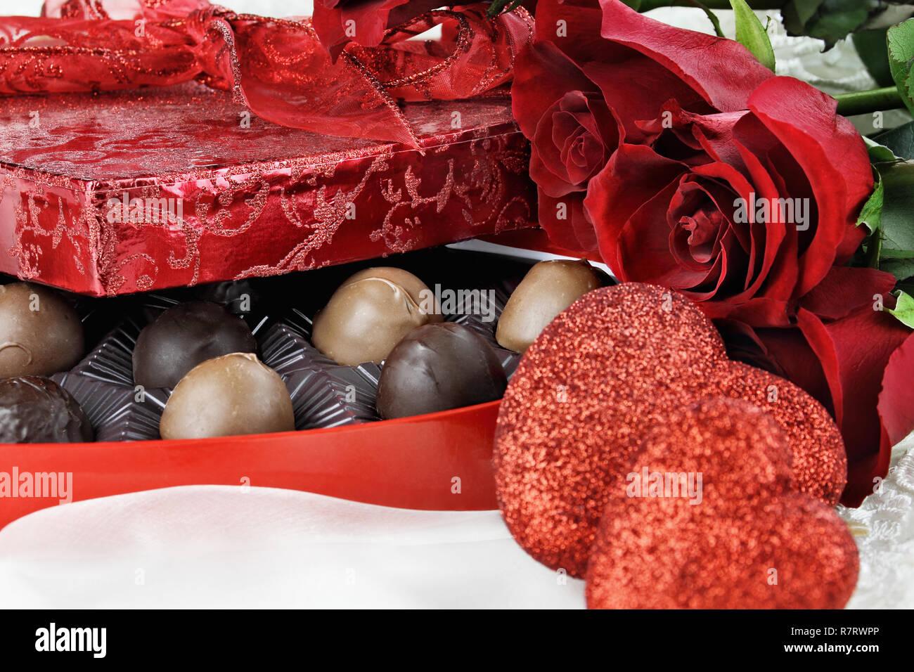 Herzformige Box Der Valentinstag Schokoladen Mit Schonen