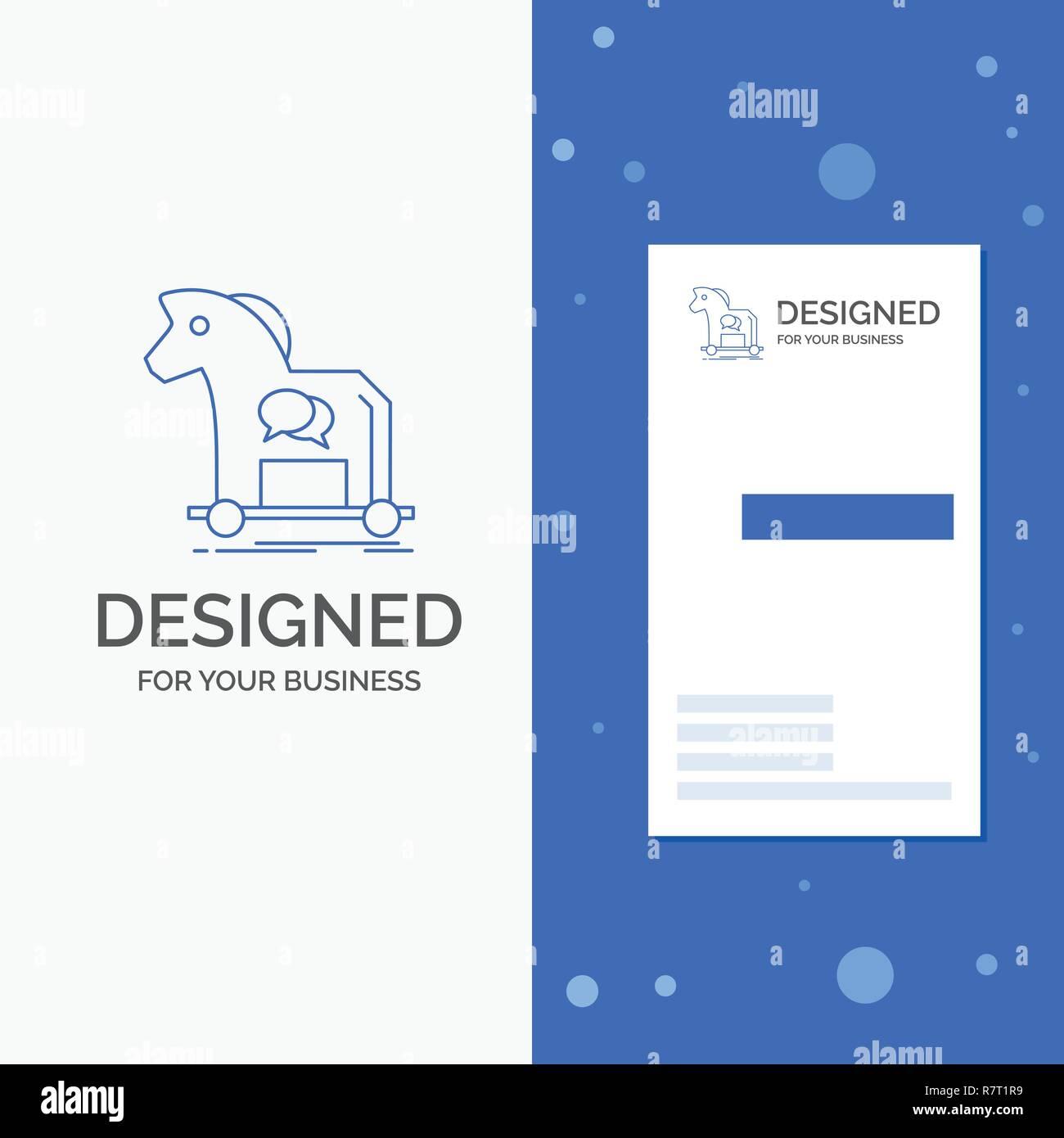 Business Logo Für Cyberkriminalität Pferd Internet