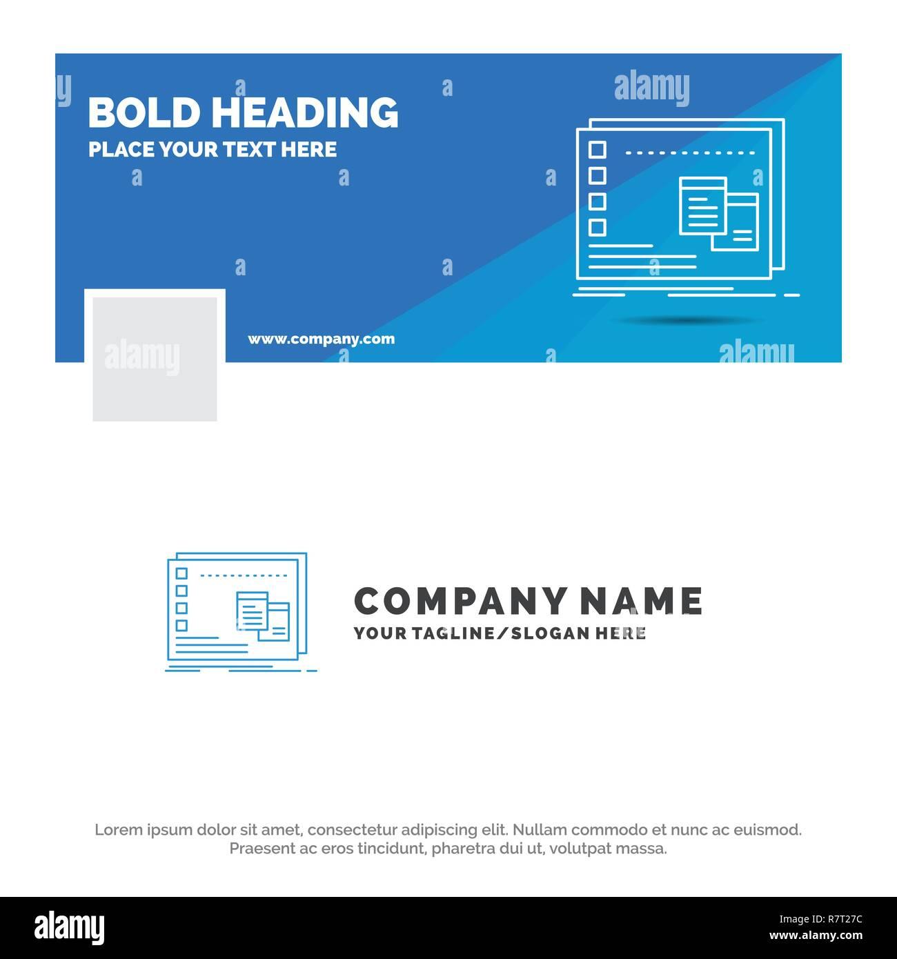 Blue Business Logo Vorlage Für Fenster Mac Os Programm