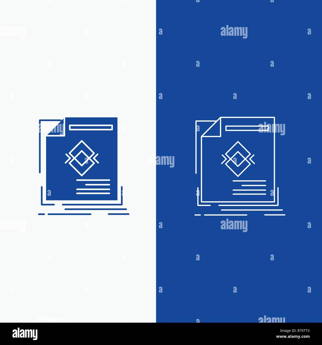 Anzeige Anzeige Prospekt Magazin Seite Linie Und Glyphe Web