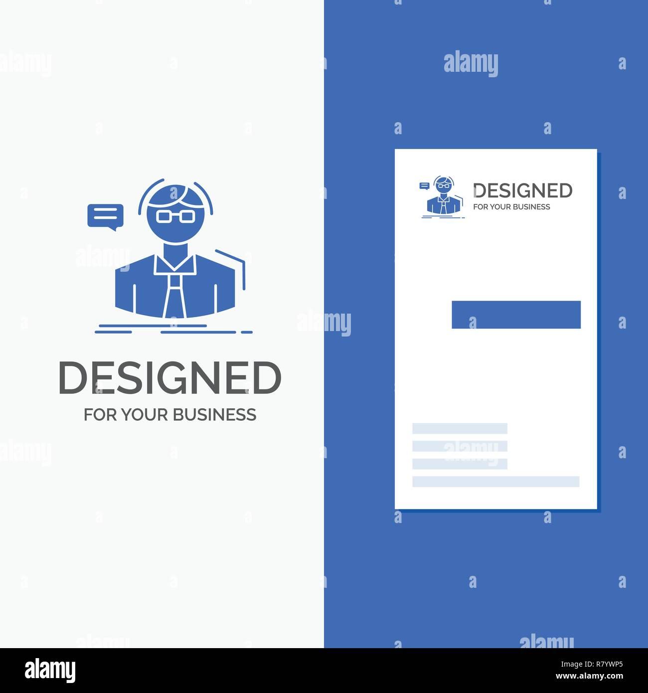 Business Logo Für Professor Student Wissenschaftler