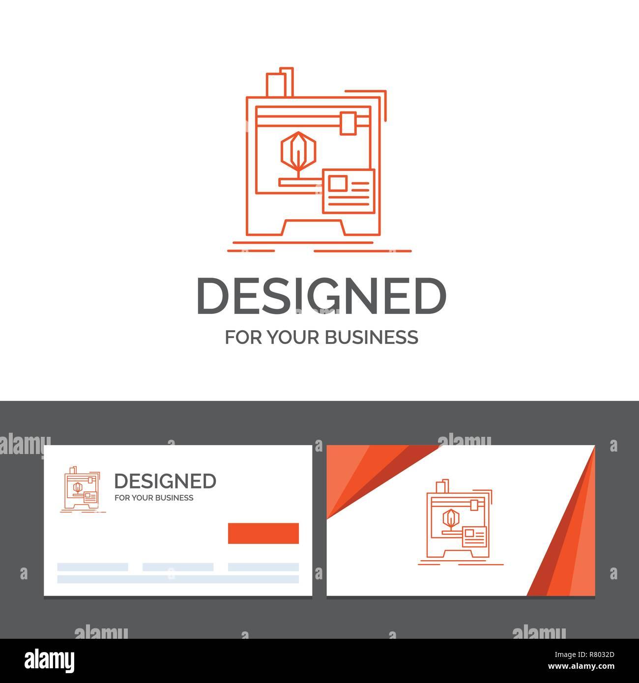 Business Logo Vorlage Für 3d D Computer Drucker