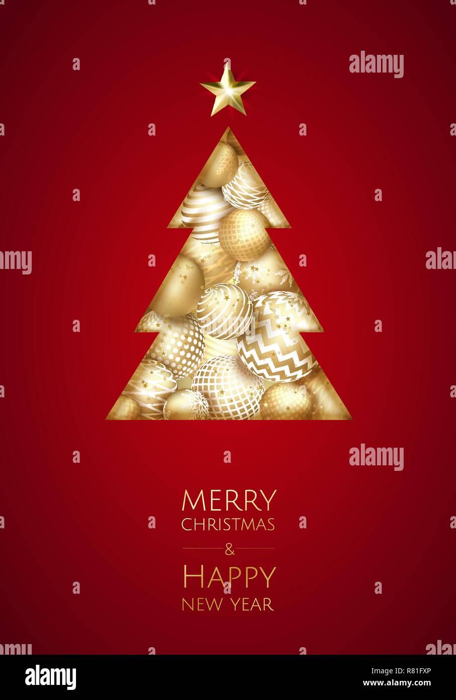 Karte Frohe Weihnachten.Frohe Weihnachten Und Guten Rutsch Ins Neue Jahr Vektor Moderne