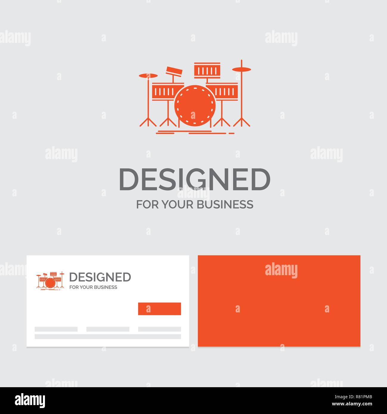 Business Logo Vorlage Für Trommel Schlagzeug Instrument