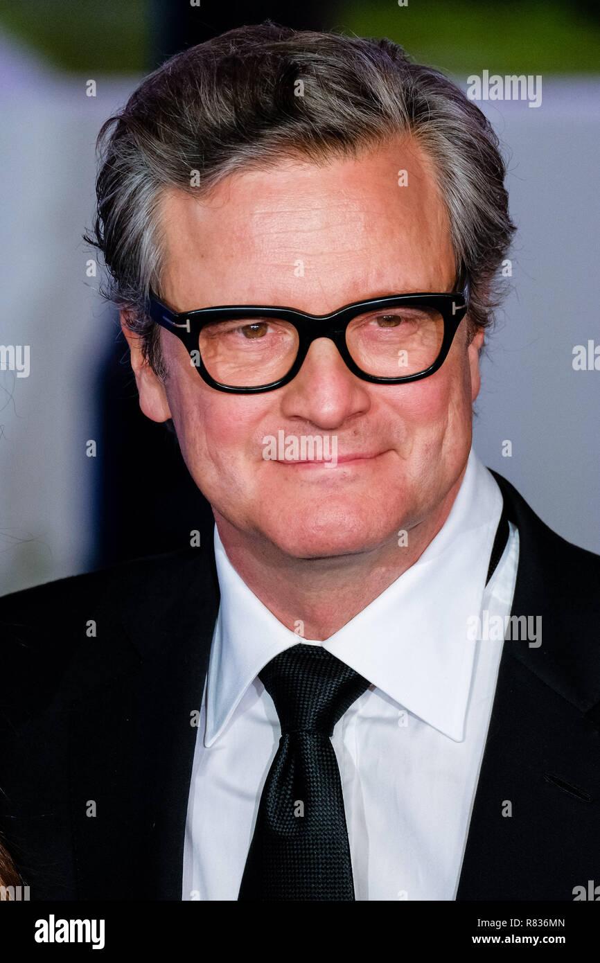 London, Großbritannien. 12. Dezember, 2018. Colin Firth bei der Europäischen Premier von Mary Poppins kehrt am Mittwoch, den 12. Dezember 2018 gehalten in der Royal Albert Hall, London. Im Bild: Colin Firth. Credit: Julie Edwards/Alamy leben Nachrichten Stockbild