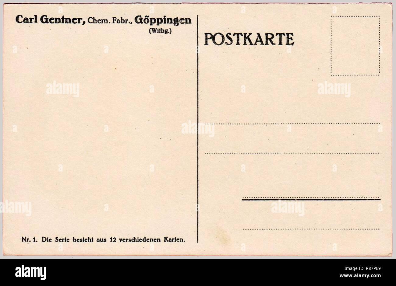 Carl Gentner AK Generaloberst v. C. Einem, adressseite 1 aus der 12er-Serie. Stockbild