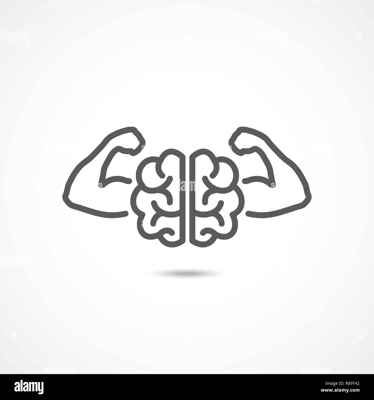 Willenskraft Symbol Auf Weißem Hintergrund Vektor Abbildung Bild