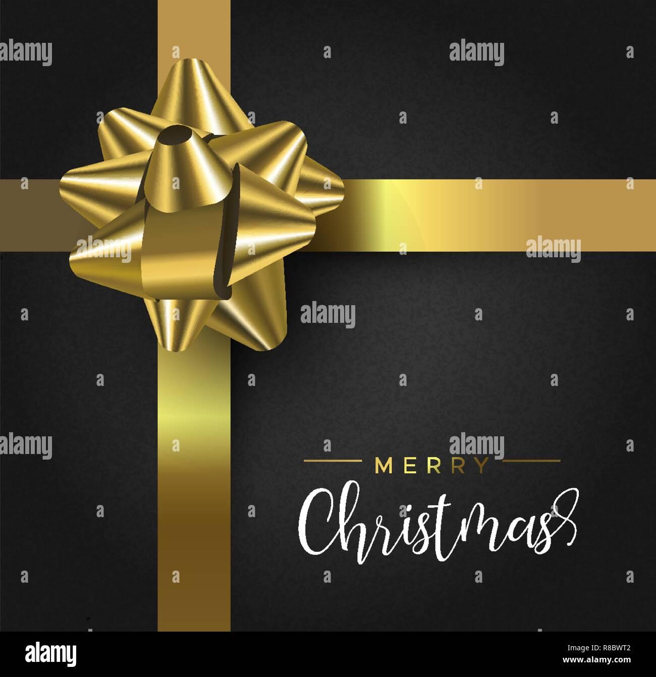 Geschenkband Frohe Weihnachten.Frohe Weihnachten Und Guten Rutsch Ins Neue Jahr Grusskarte