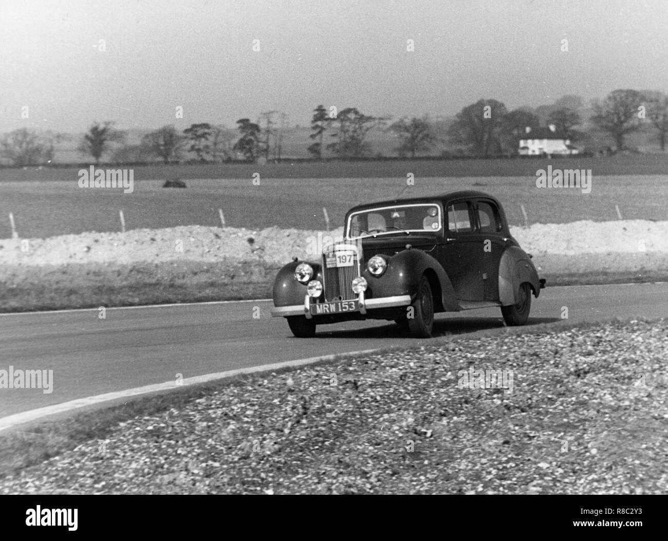 Alvis 3 liter Ronnie Adams RAC Rallye 1954 Stockbild