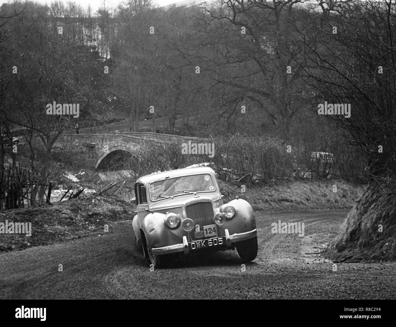 Alvis 3 liter RAC Rallye 1955 Stockbild