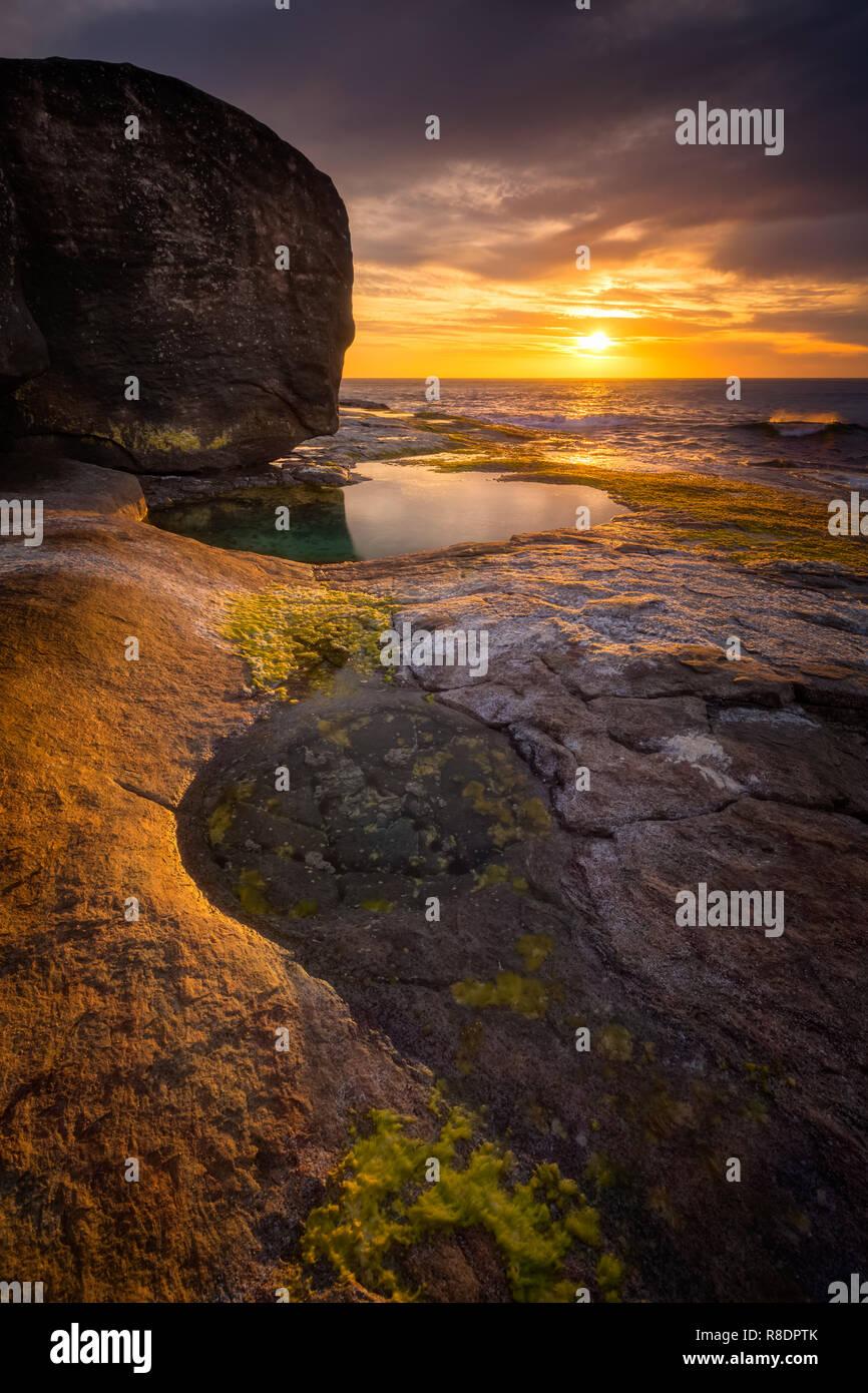 Sonnenuntergang Seascape Stockbild