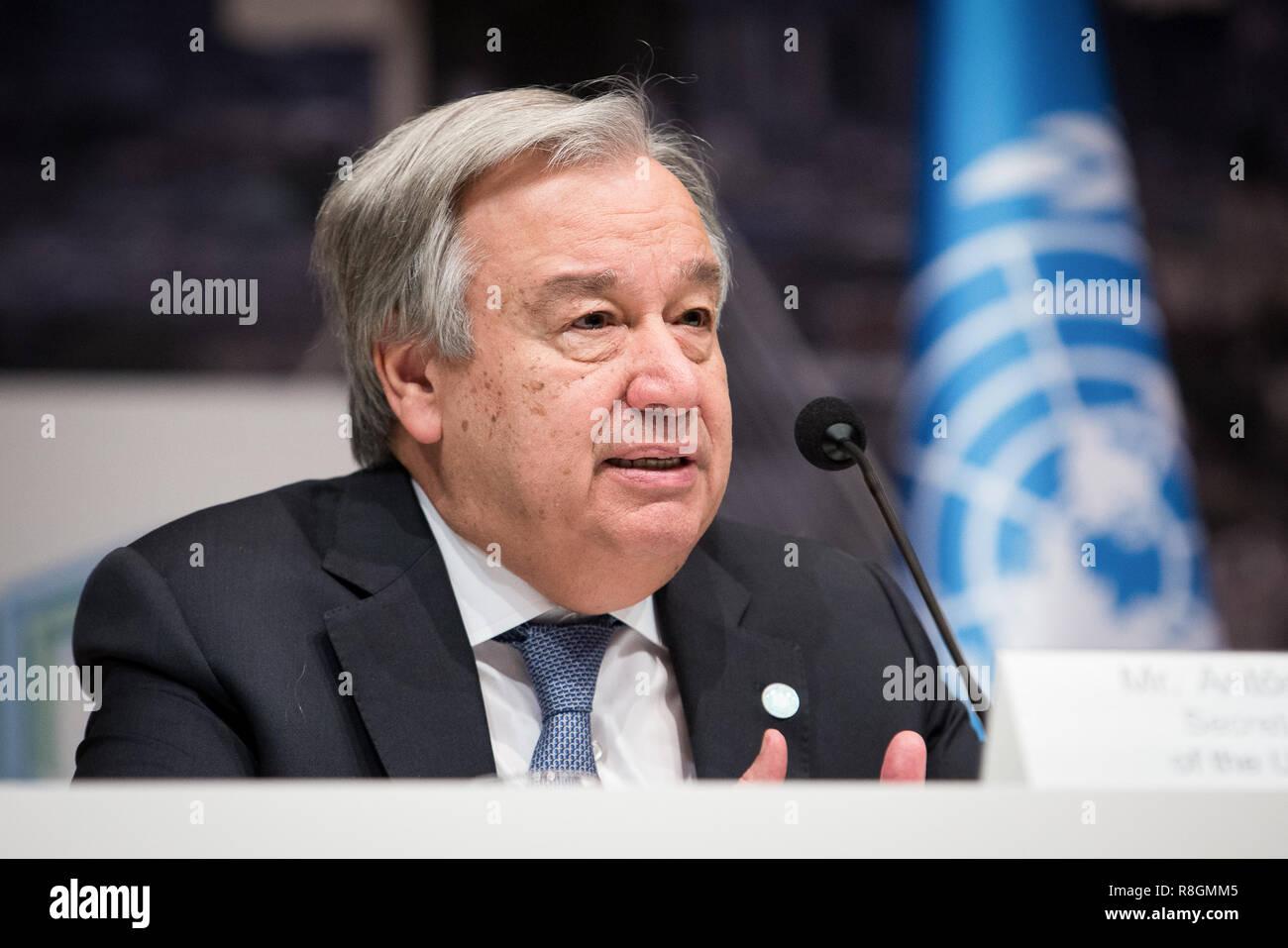 Generalsekretär der Vereinten Nationen, Antonio Guterres während ...