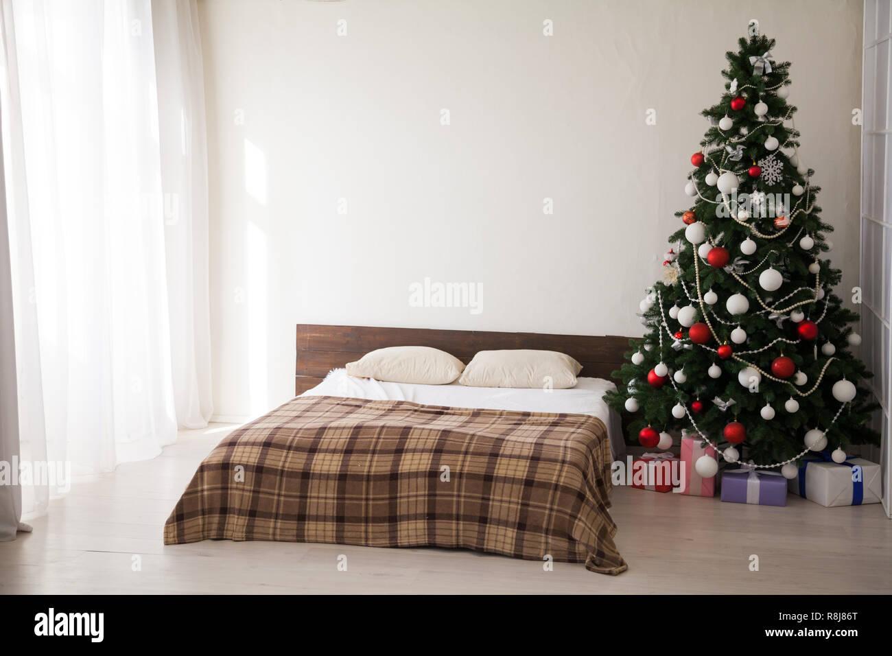 Schlafzimmer leuchten Weihnachtsbaum-Girlande neues Jahr ...