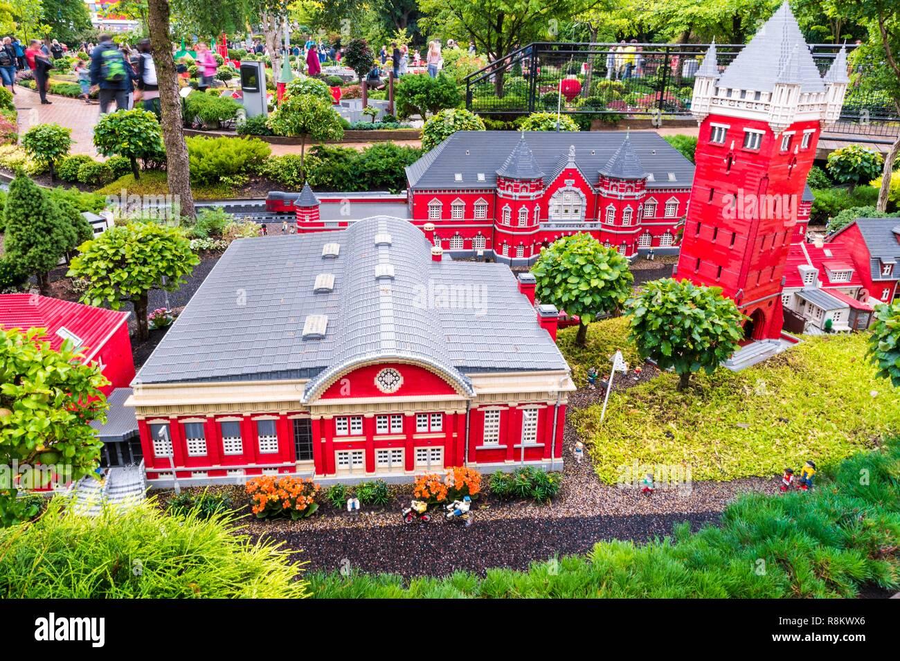 Dänemark Jütland Billund Legoland Billund Ist Der Erste Legoland