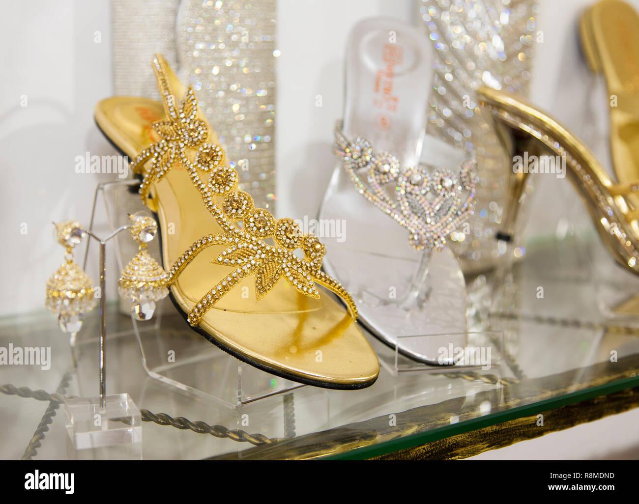 designer auf Anzeige Stockfoto Indische Damen Schuhe der