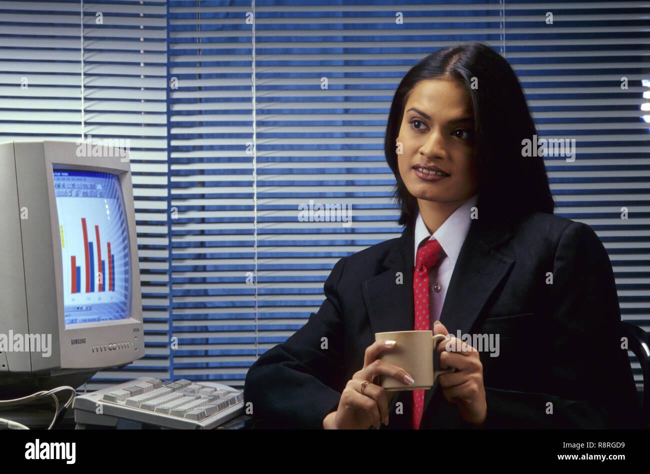 Frau Bedienrechner, Indien, Herrn Nr. 286 Stockfoto