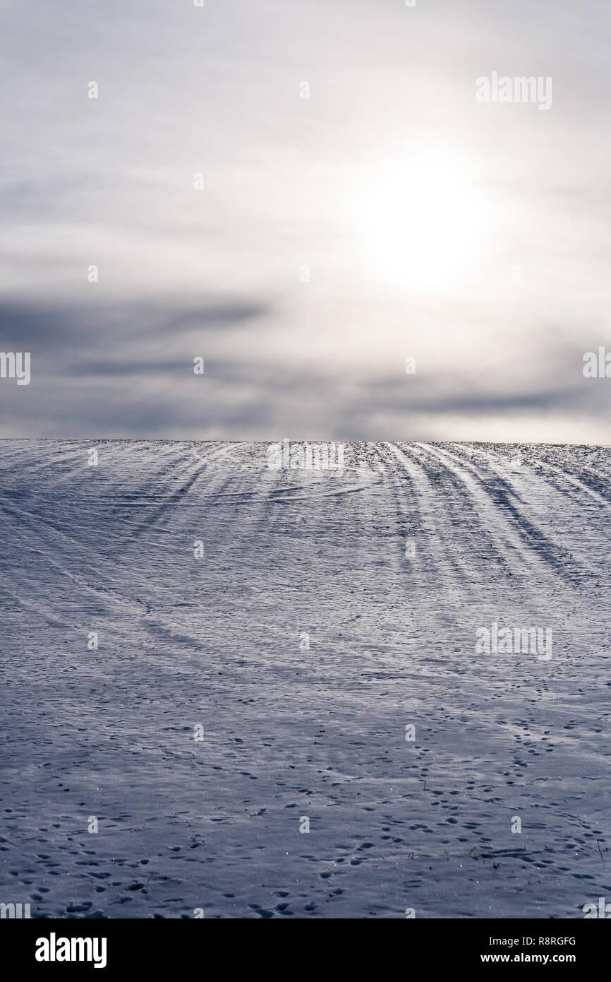 Snowy Hügel Stockbild