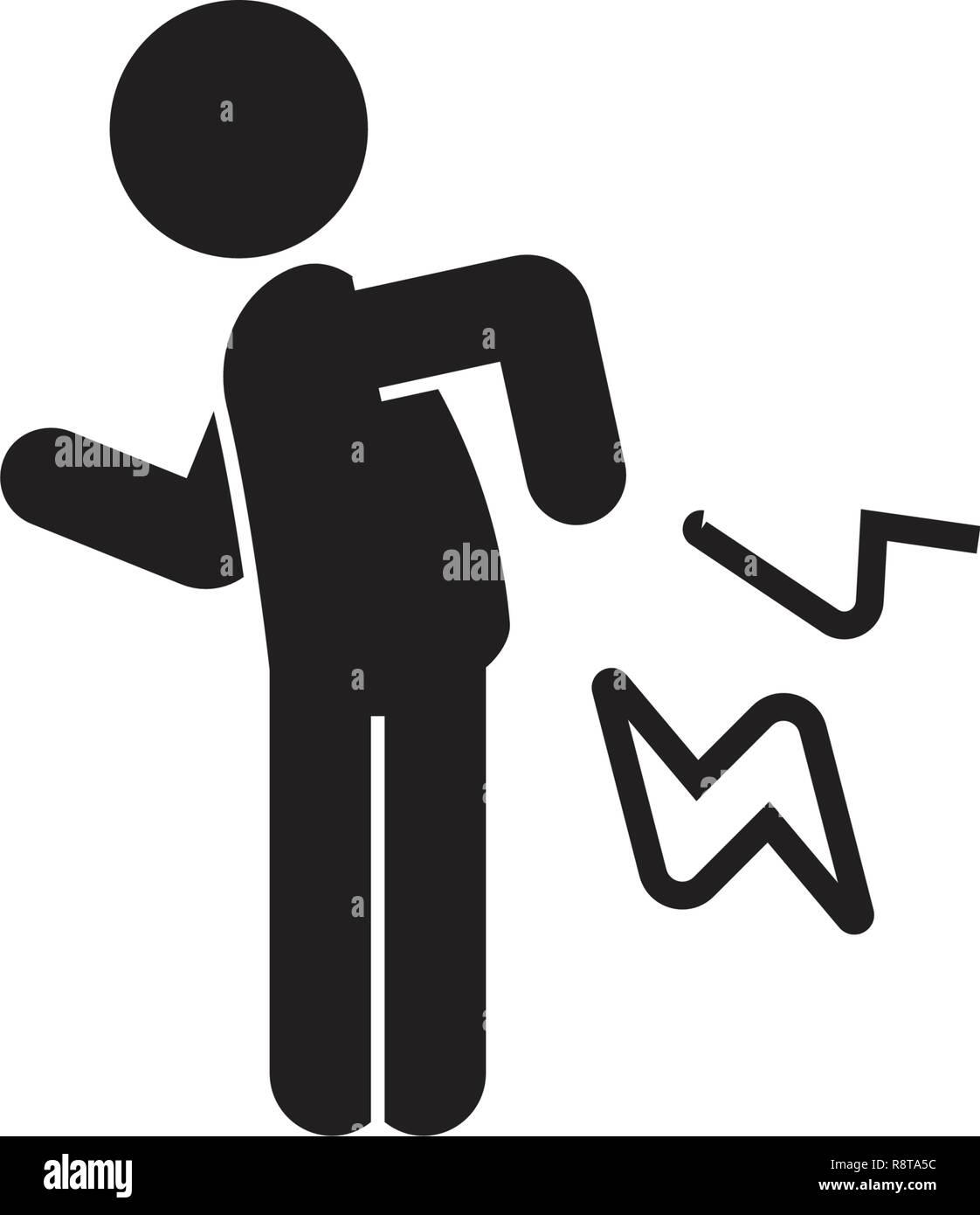 Rheumatoide Arthritis schwarz Vektor Konzept Symbol. Rheumatoide Arthritis flachbild Illustration, Zeichen Stockbild