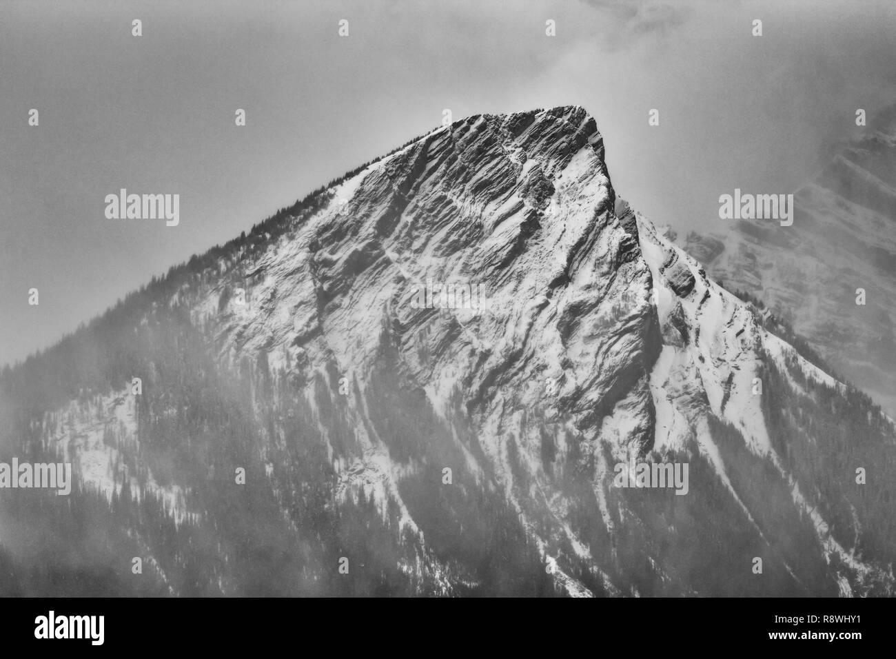 Canadian Mountain Tops Stockfoto