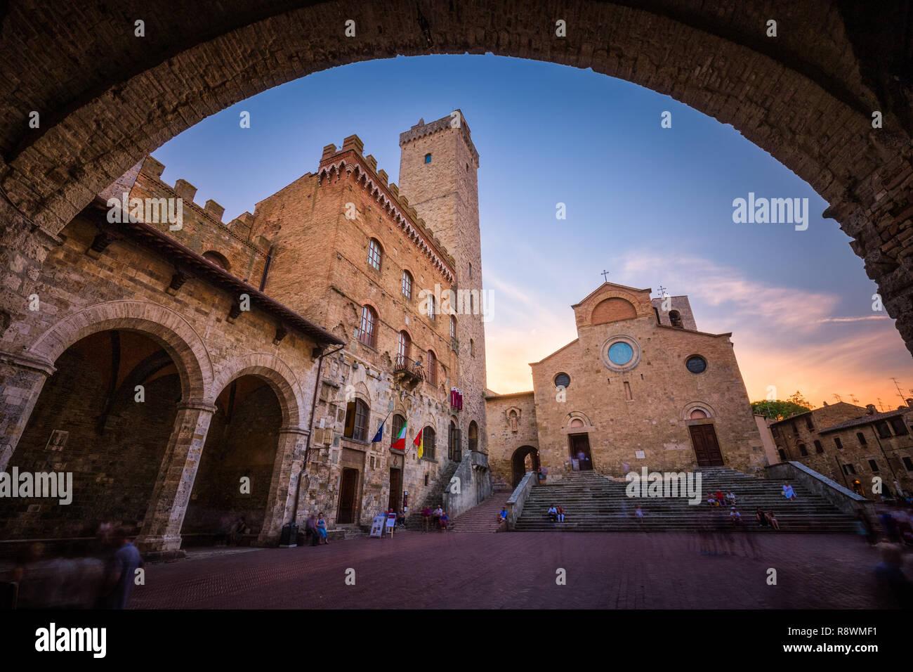 San Gimignano Stockbild