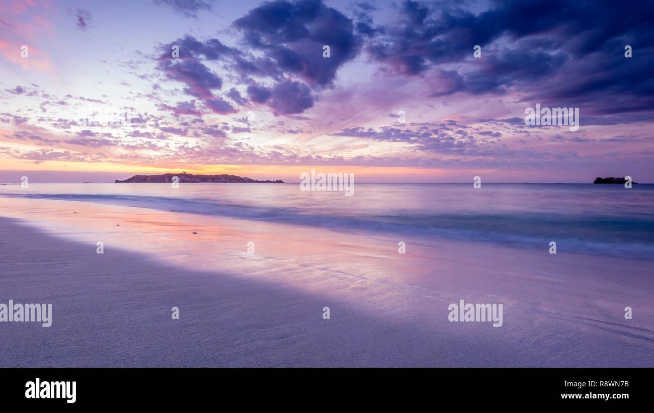 Hamelin Bay Sonnenuntergang Stockbild