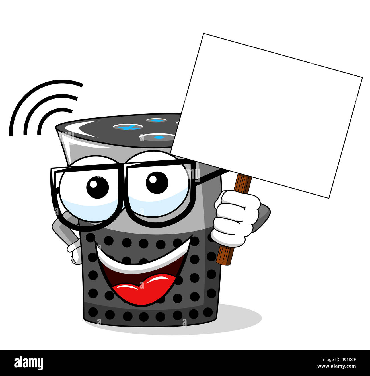 Smart Box cartoon Lustig leer Banner copyspace isoliert auf weißem Stockbild
