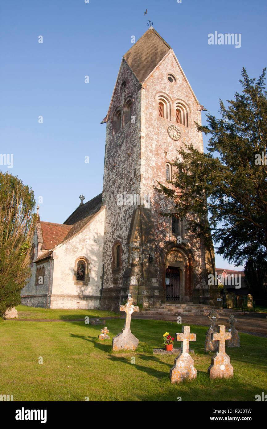 St. Peter & Paul Kirche, Hawkley, nr Liss, East Hampshire Stockbild